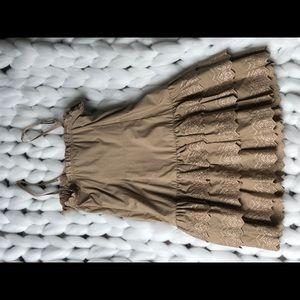 Moda International Dresses - Tan party dress